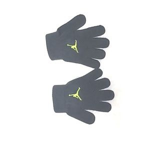 Other - Jumpman Logo Winter Grey Knit Gloves